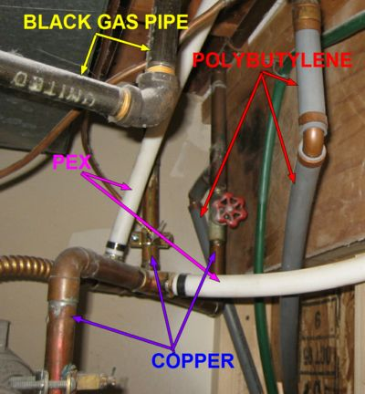 Ashi certified home inspector valley home inspection for Pex pipe vs copper pipe